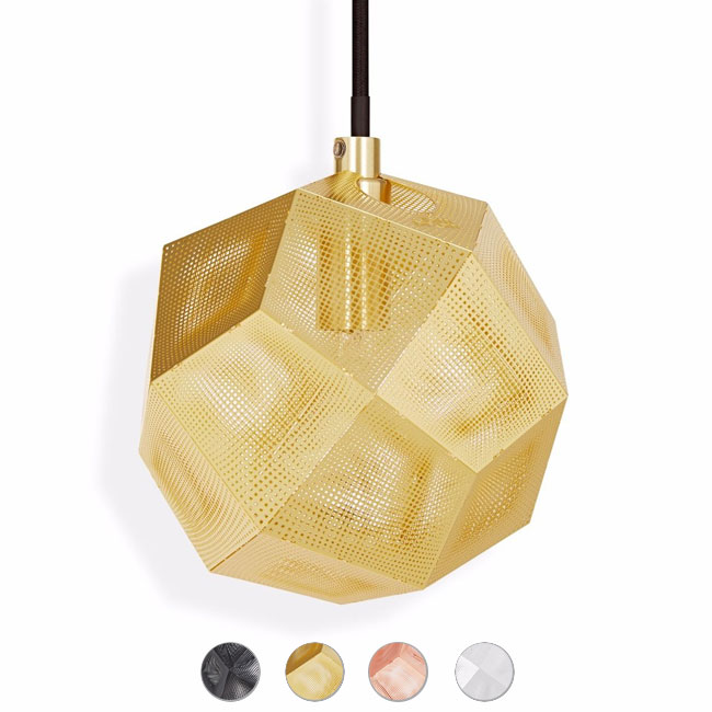 Tom Dixon suspension lamp Etch Mini Ø 15 cm 1 luce G9 - www.smart ...