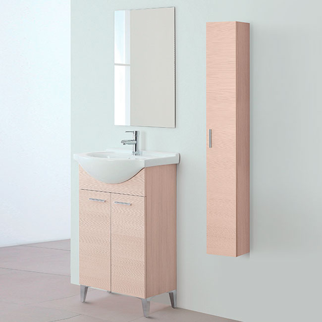 Arredo Bagno Feridras.Feridras Arredo Bagno 2 Door Bathroom Composition With Washbasin Mirror And Hanging Column Stella