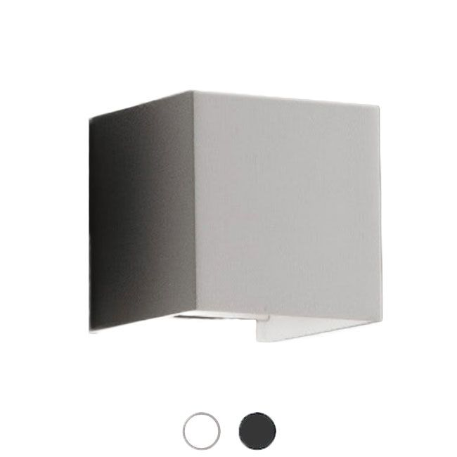 Ai Lati Lights Wall Lamp Cubetto Led 6w Ip54 L 10 Cm Also For Outdoor