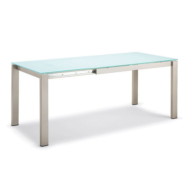 Tavolo Allungabile Vetro Calligaris.Connubia By Calligaris Baron Glass Extending Table Cm 160 220