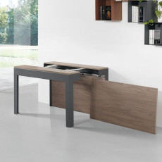 Pezzani Extendable table-console with 4 extensions ULISSE L 45/285 cm Slate-Walnut Gray