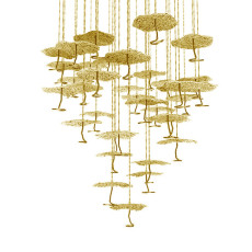 Catellani&Smith Gold Moon Chandelier Suspension lamp LED 35W Ø 78 cm dimmable