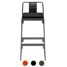 Driade high stool with backrest  Mingx H 78 cm, outdoor use