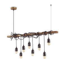 Ideal Lux Suspension Lamp Electric 8 Lights E27 L 94cm