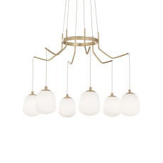 Ideal Lux Suspension Lamp Karousel 6 Lights G9 Ø 72cm