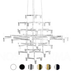 Nemo suspension lamp Crown Magnum 42 luci G9 QT-14 L 150x151 cm
