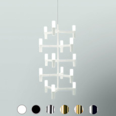 Nemo suspension lamp Crown Multi 15 luci G9 QT-14 L 14x46 cm