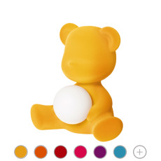 Qeeboo Portable Lamp Teddy Girl Velvet LED H 32cm