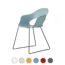 Scab Sled chair LADY B H 78 cm For indoor and outdoor use
