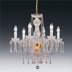 Crystal chandelier with arms 8110AL 6 luci E14 Ø 58 cm Stile Voltolina Alicante