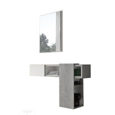 Tomasucci Suspended furniture composition + mirror Play 100x75cm with Nr. 1 drawer