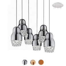 Axo Light Suspension lamp Fedora LED 6 Luci 7,5W H 19 cm