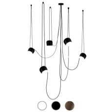Flos Suspension lamp Aim Small 5 luci LED 60W Ø 17 cm