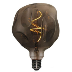 Bulb Vintage LED Filament Curved Globo Bumped 5W E27 2000K 220/240V Ø 18 cm smoked dimmable DLItalia