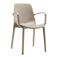 Scab chairs with armrests Geneva, stackable, also for garden