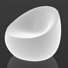 Vondom illuminated lounge chait LED Stone L 88 cm For indoor and outdoor use