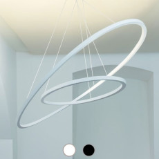 Nemo Ellisse Pendant Double Pendant lamp LED 90W L 133 cm