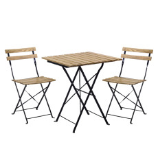 Vacchetti Metal Coffee Table with 2 Natural Square Chairs Dubai H 70cm