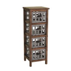 Vacchetti Mobile Chest of 4 Drawers Brown Provence Gray W 34 X H 101 CM