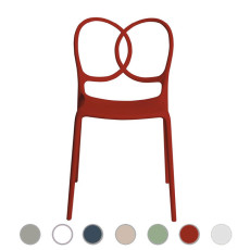 Driade chair Sissi L 48 cm, stackable , also for outdoor use