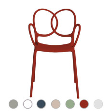 Driade  small armchair Sissi L 53 cm, stackable , also for outdoor