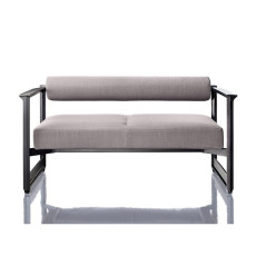Magis 2 Seater Sofa Brut L 133.5cm Structure in Grey Anthracite with Shee
