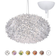 Kartell Pendant lamp Bloom Ø 53 cm 6 Lights G9