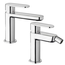 Paffoni Faucet set with basin mixer and bidet mixer without waste Candy