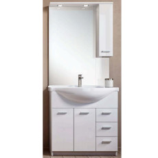 Bathroom composition Classica L 85 cm with sink, mirror, wall unit and LED spotlights Savini