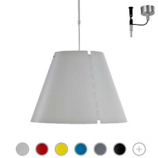 Luceplan Pendant lamp with Telescopic Rod Costanza 1 Light E27 Ø 40 cm