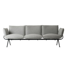 Magis 3 Seater Sofa Officina L 213cm Structure in Grey Anthracite with Divina Melange