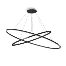 Nemo Suspension lamp Elisse Double Mega LED 90W L 186 cm