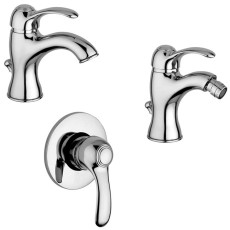Paffoni Faucet set Wash basin, bidet and concealed shower mixer (1 outlet) Flavia