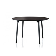 Magis round Table First Ø 79 cm black HPL plan, also for outdoor use