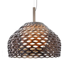 Flos Suspension Lamp Tatou S1 1 Light 23W Ø 28 cm Grey Ochre