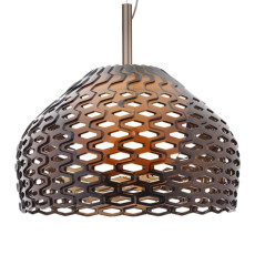 Flos Pendant Light Tatou S2 1 Light Ø 50 cm Grey Ochre