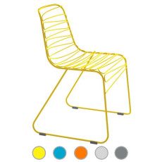 Magis Fireproof stacking Chairs Flux H 78 cm L 54,5 cm, also for outdoor use
