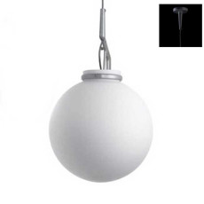 Luceplan Pendant lamp Glassglass 1 Light E27 H 43 cm