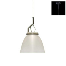 Luceplan Pendant lamp Glassglass 1 Light E27 H 124 cm