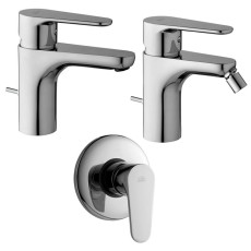 Paffoni Faucet set Wash basin, bidet and concealed shower mixer (1 outlet) Green