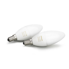 2 x Philips Hue Bulb LED 6W Ø 3,9 cm 2200K-6500K