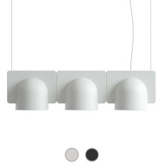 Fontana Arte Pendant lamp Igloo 3 Down LED 30W L 66 cm