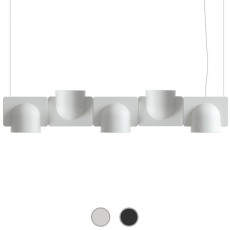 Fontana Arte Pendant lamp Igloo 5 Down/Up LED 50W L 110 cm