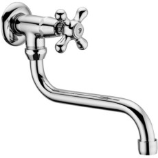 """Paffoni Iris Wall Sink with Swivelling Spout Complete with """"S"""" Spout - Ø18x180mm"""