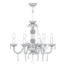 Italamp Chandelier 15/5-6-8 Ø 58 cm E14 Dimmable