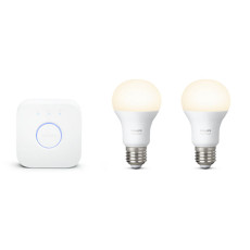Philips Hue White Starter kit 2 bulbs + Bridge E27 9,5W Ø 6,1 cm