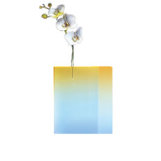 Vesta_ Design Small Luminous Flower Stand in Crystal Acrylic Experiment 8W E01 30 x 35,5 h cm th. 60 mm