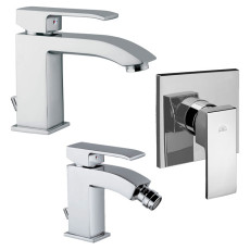 Paffoni Faucet set Level sink, bidet and concealed shower mixer (1 outlet)