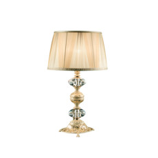 Lux Small lamp in ivory lacquered brass Claudia 1 light E14 H 45 cm
