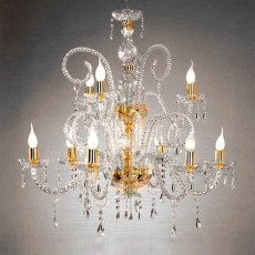 Crystal Chandelier Maria Teresa T4 Ciciriello 9 Lights E14 Ø 84 cm